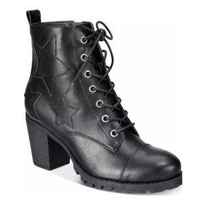 NEW XOXO Women's Chloee Combat Boots Black Variety